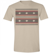 70s Retro Rug Graphic Sand Tee Shirt