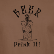 Beer Drinker Drunk Graphic Brown Tee Shirt