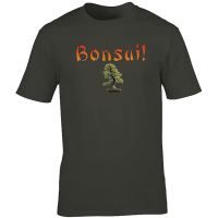 Buy Bonsai Banzai Graphic Charcoal Tee Shirt