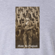 Isambard Kingdom Brunel Made in England Graphic Sport Grey Tee Shirt