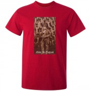 Isambard Kingdom Brunel Made in England Graphic Red Tee Shirt