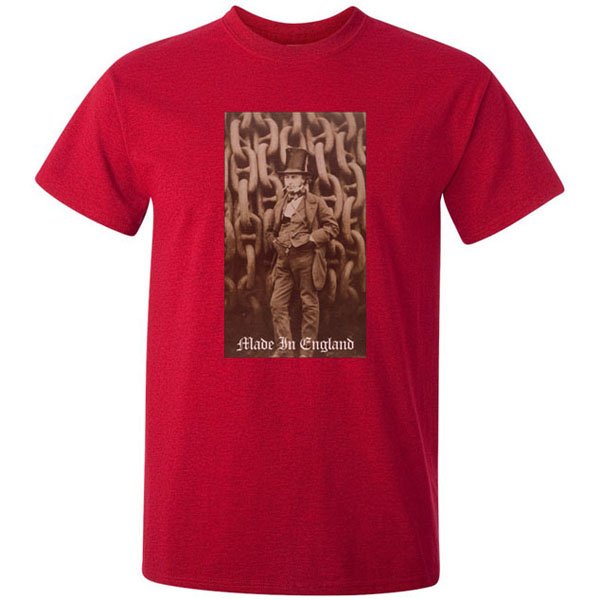 Buy Isambard Kingdom Brunel Made in England Graphic Red Tee Shirt