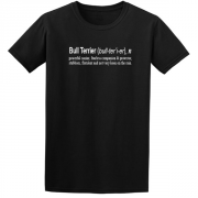 Bullterrier Quote Graphic Black Tee Shirt
