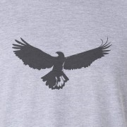 Buzzard Bird Silhouette Graphic Sport Grey Tee Shirt