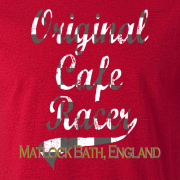 Original Classic Cafe Racer Matlock Graphic Red Tee Shirt