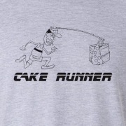 Cake Runner Sport Graphic Sport Grey Tee Shirt