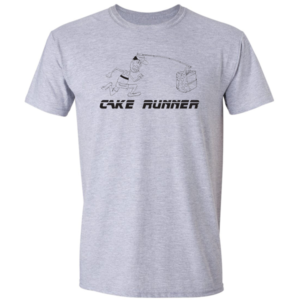 Buy Cake Runner Sport Graphic Sport Grey Tee Shirt