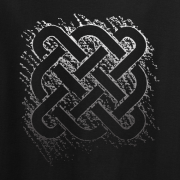 Celtic Square Graphic Black Tee Shirt