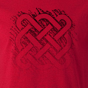 Celtic Square Graphic Red Tee Shirt
