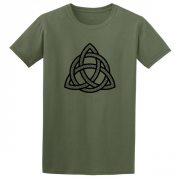 Celtic Triangle Graphic Green Tee Shirt