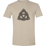 Celtic Triangle Graphic Sand Tee Shirt