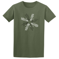 Buy Circle of Life Cave Art Graphic Green Tee Shirt