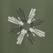 Circle of Life Cave Art Graphic Green Tee Shirt