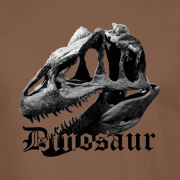 Dinosaur Graphic Sport Brown Tee Shirt