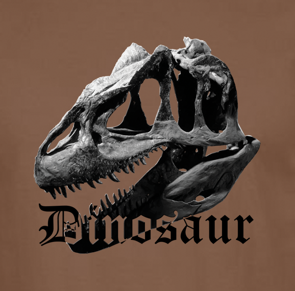 Buy Old Guy Dinosaur Graphic Sport Brown Tee Shirt