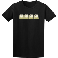Buy Geek Nerd Keyboard Graphic Black Tee Shirt