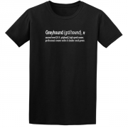Greyhound Quote Graphic Black Tee Shirt