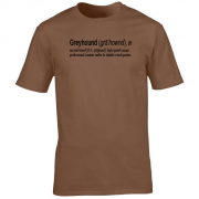 Greyhound Quote Graphic Brown Tee Shirt