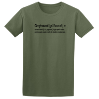Buy Greyhound Quote Graphic Green Tee Shirt