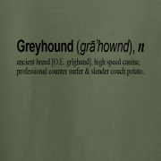 Greyhound Quote Graphic Green Tee Shirt