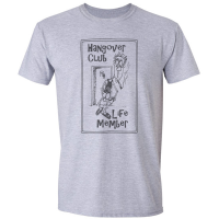 Buy Hangover Drinking Club Sport Grey Graphic Tee Shirt