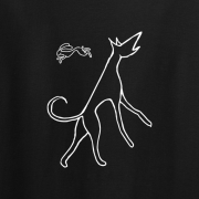 Hare and Hound Graphic Sport Black Tee Shirt