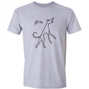 Hare and Hound Graphic Sport Grey Tee Shirt