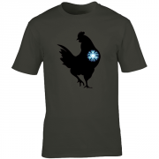 Iron Chicken Super Hero Graphic Sport Charcoal Tee Shirt