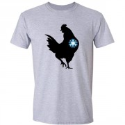 Iron Chicken Super Hero Graphic Sport Grey Tee Shirt