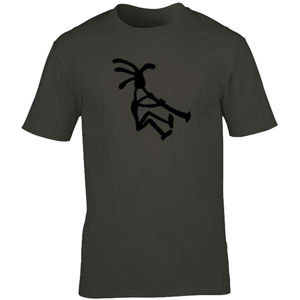 Buy Kokopelli Piper Graphic Sport Charcoal Tee Shirt