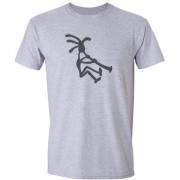 Kokopelli Piper Graphic Sport Grey Tee Shirt