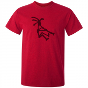 Kokopelli Piper Graphic Red Tee Shirt