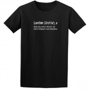 Lurcher Quote Graphic Black Tee Shirt