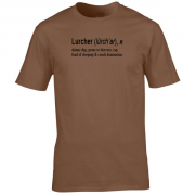 Lurcher Quote Graphic Brown Tee Shirt