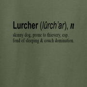 Lurcher Quote Graphic Green Tee Shirt