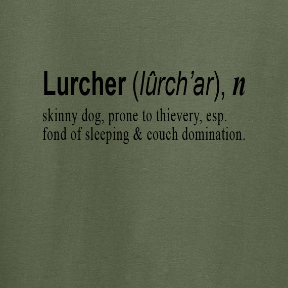 Buy Lurcher Quote Graphic Green Tee Shirt