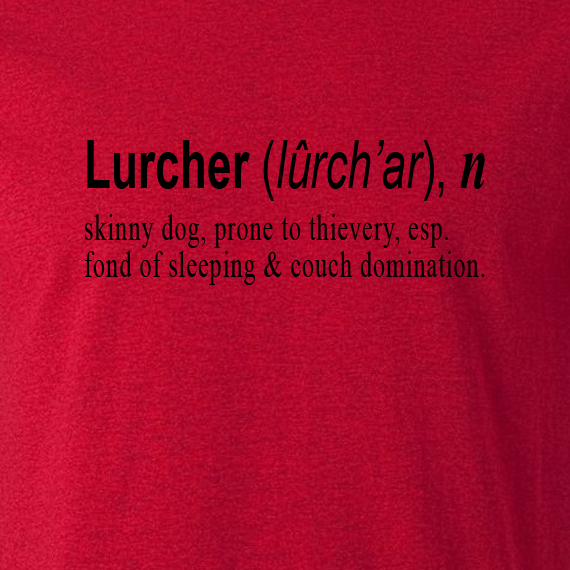 Buy Lurcher Quote Graphic Red Tee Shirt