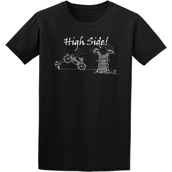 Buy Motor Cyclist High Side Graphic Black Tee Shirt