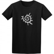 Native American Sun Symbol Graphic Black Tee Shirt