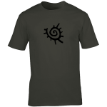 Buy Native American Sun Symbol Graphic Charcoal Tee Shirt