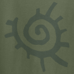 Buy Native American Sun Symbol Graphic Green Tee Shirt