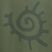 Native American Sun Symbol Graphic Green Tee Shirt