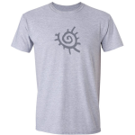 Buy Native American Sun Symbol Graphic Sport Grey Tee Shirt