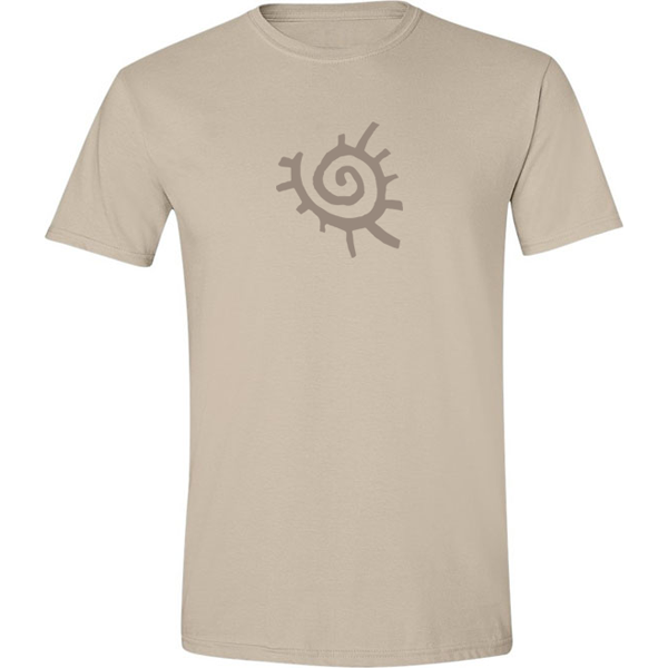 Buy Native American Sun Symbol Graphic Sand Tee Shirt