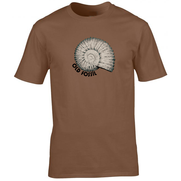 Buy Old Guy Fossil Graphic Brown Tee Shirt