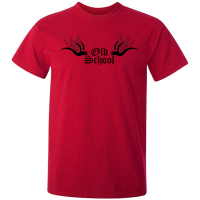 Buy Old School Tattoo Graphic Red Tee Shirt