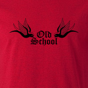 Old School Tattoo Graphic Red Tee Shirt