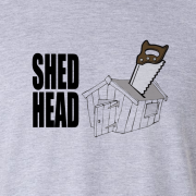 Shed Head DIY Wood Saw Graphic Sport Grey Tee Shirt