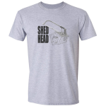 Buy Shed Head Engineer Hacksaw Graphic Sport Grey Tee Shirt