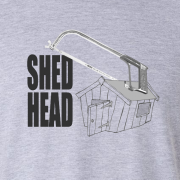 Shed Head Engineer Hacksaw Graphic Sport Grey Tee Shirt